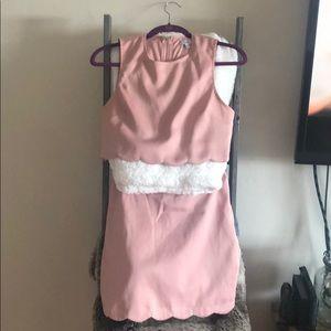Tobi Dresses - Tobi Two Piece Scalloped Crop Top & skirt